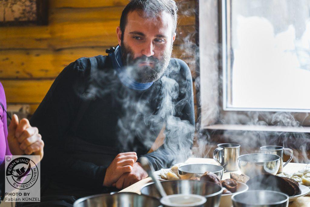 Eine heiße Suppe von Sergej