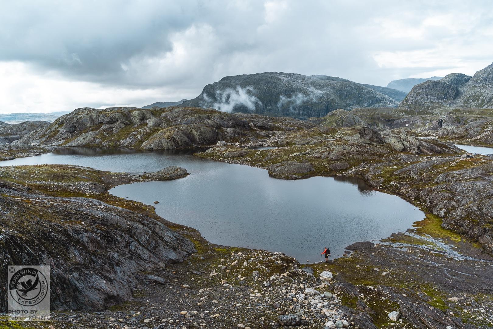 norwegen Trekking Hardangervidda Fernwind