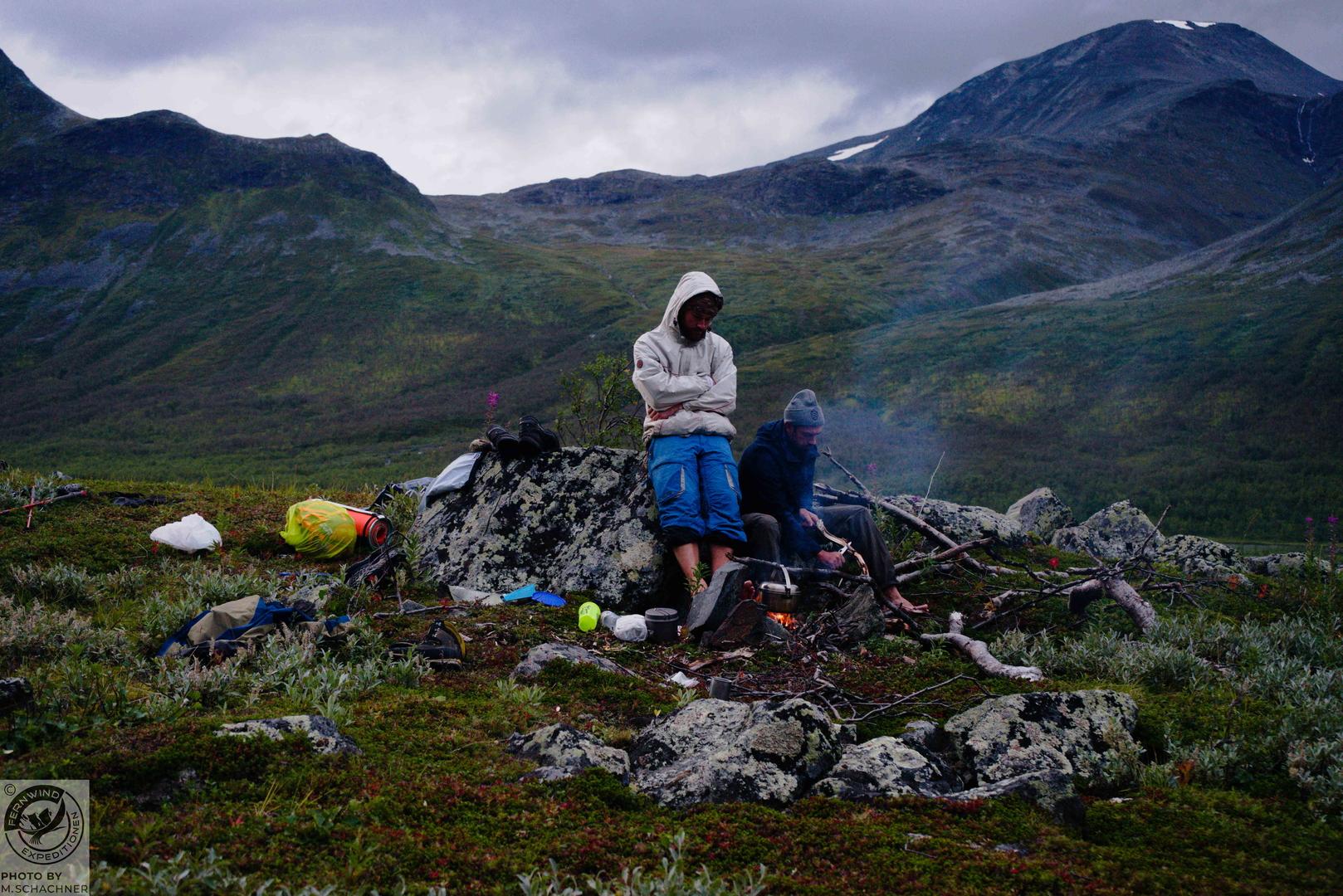 fernwind schweden sarek scouting trekking expedition Camplife