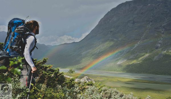 fernwind schweden sarek scouting trekking expedition Rapadalen Regenbogen