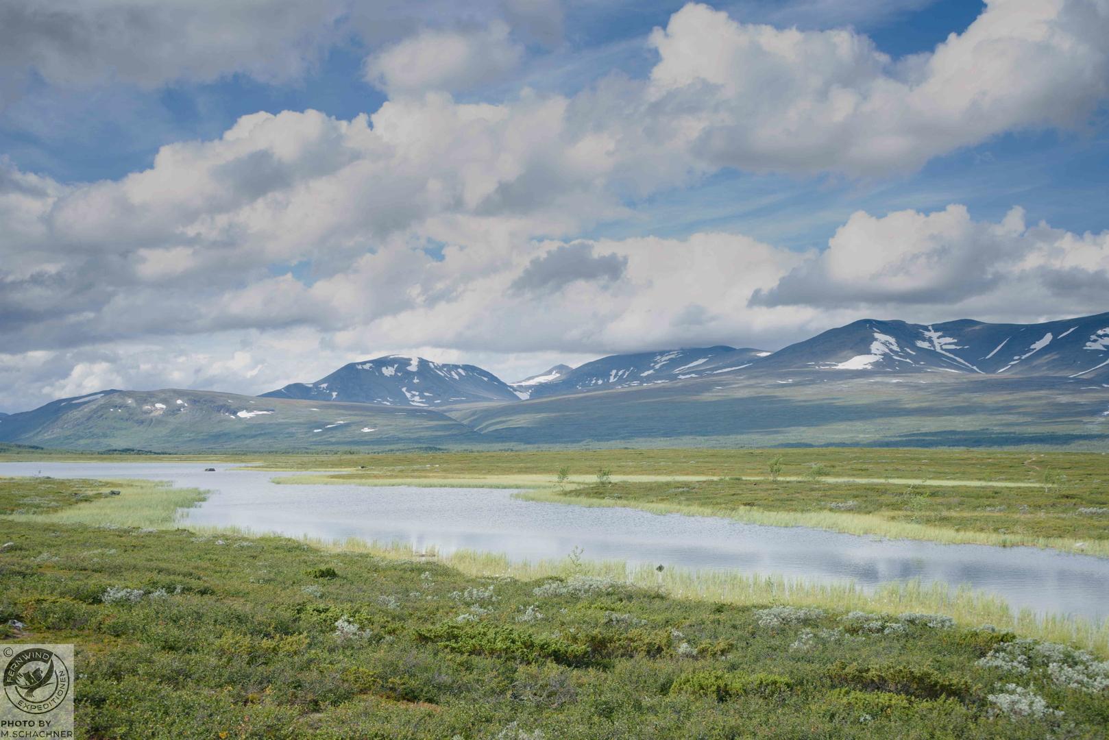 fernwind schweden sarek scouting trekking expedition Berge in der Ferne