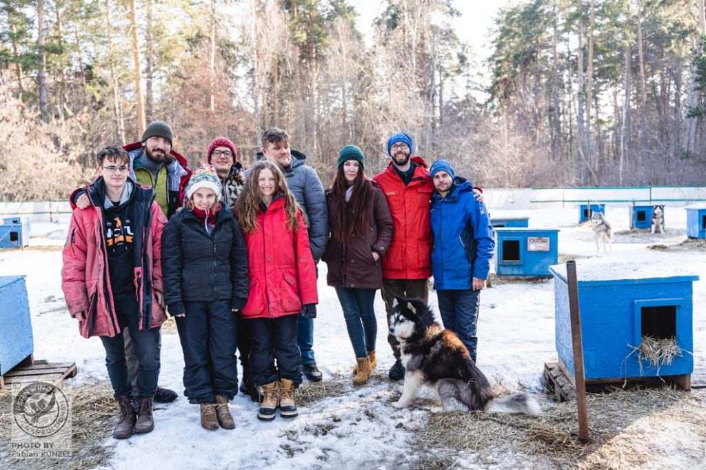 Gruppenfoto Husky Tour 2020 Russland