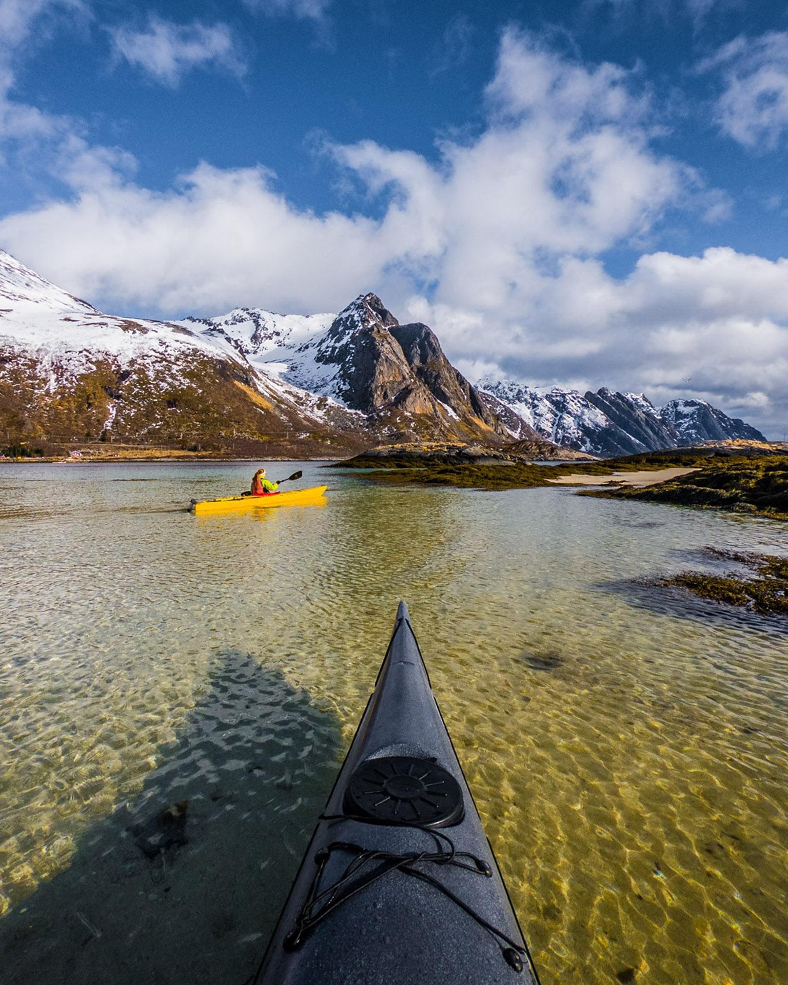 Norwegen Lofoten Kajak Landschaft