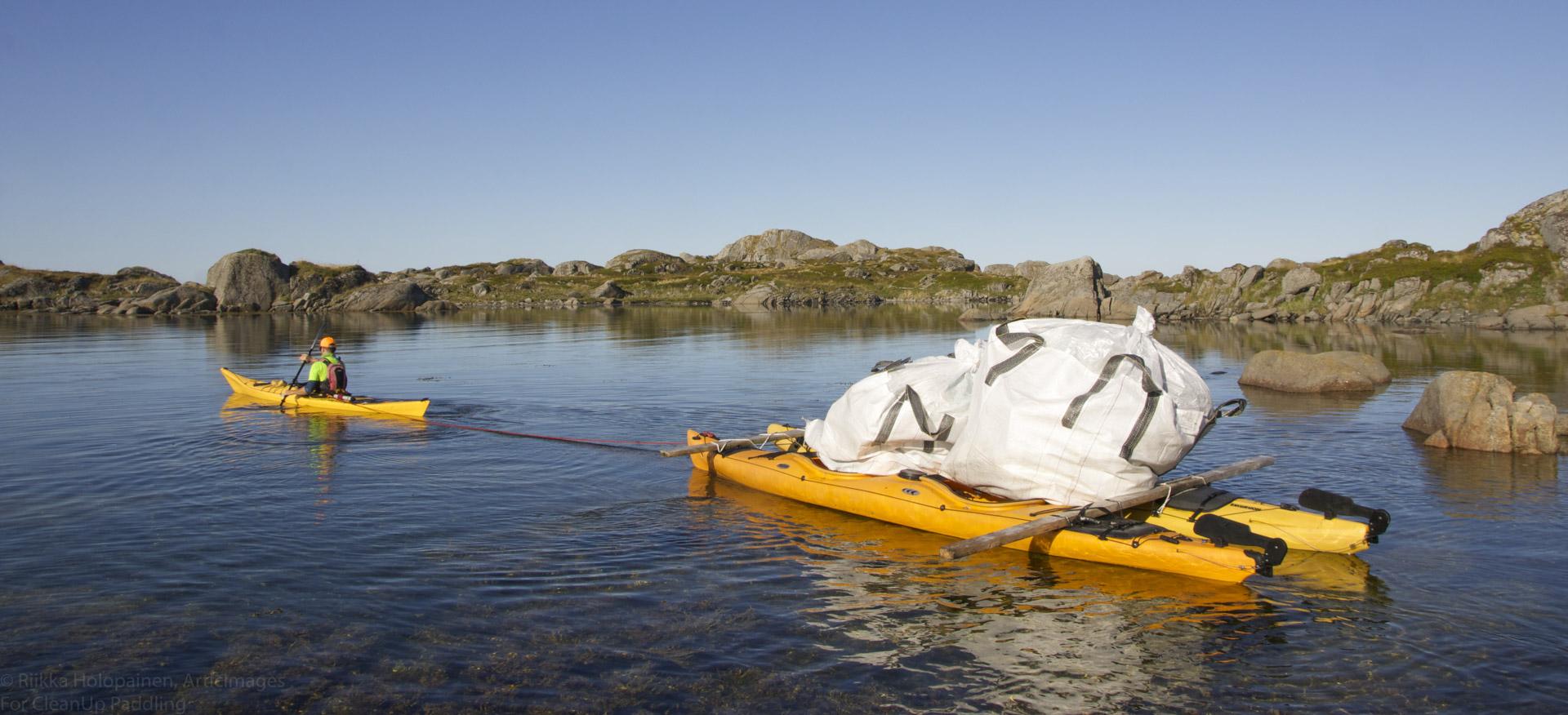 Norwegen Lofoten Kajak Clean-Up