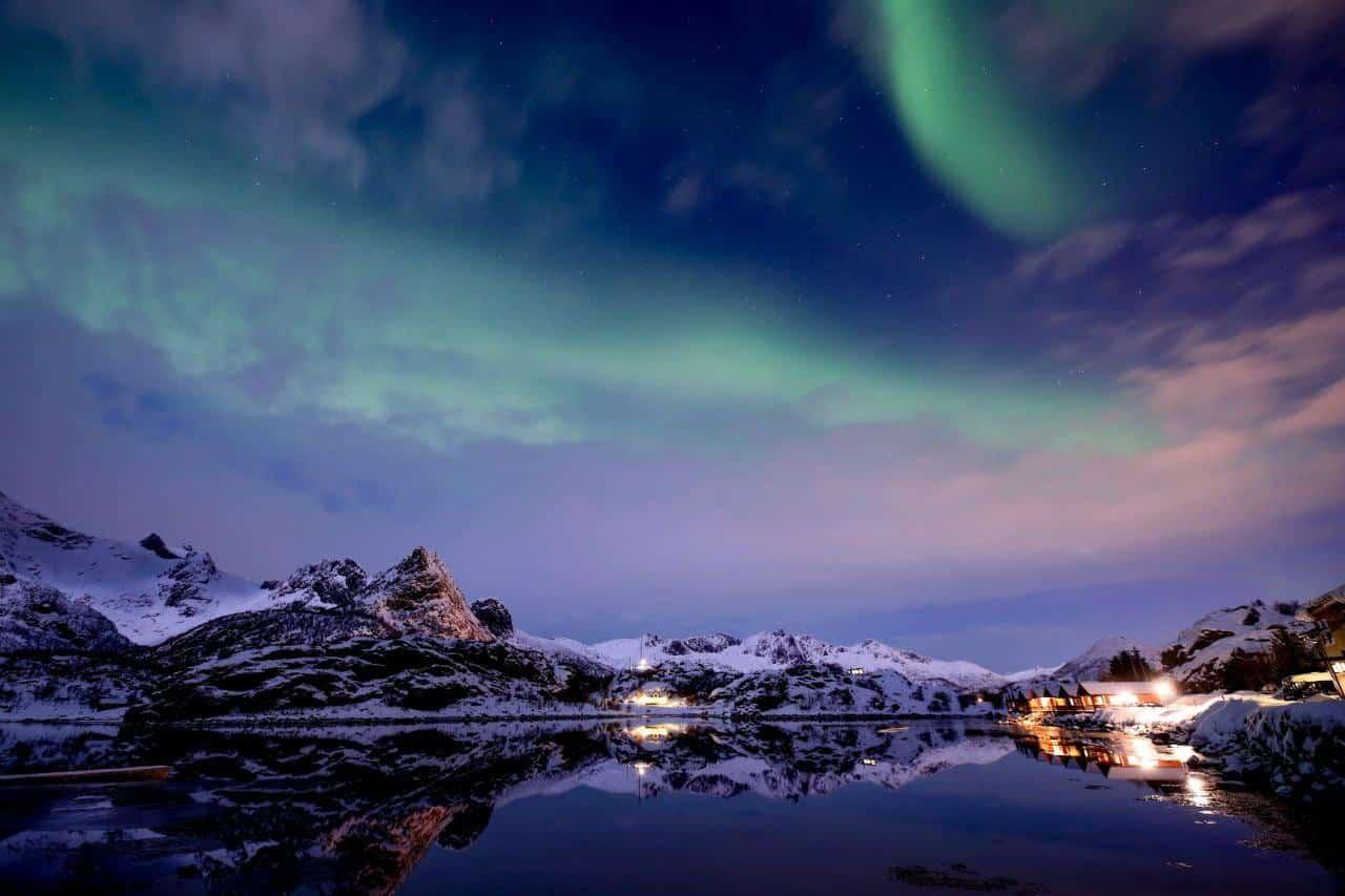 Nordlicht Lofoten Herbst